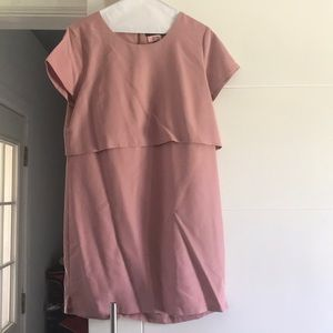 Tahari pink above the knees dress